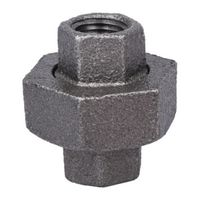 World Wide Sourcing B342 8 Black Pipe Gnd Joint Union