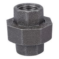 Worldwide Sourcing 34B-1/2B Black Pipe Ground Joint Union