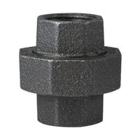 Worldwide Sourcing 34B-3/4B Black Pipe Ground Joint Union