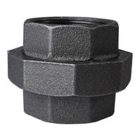 Worldwide Sourcing 34B-2B Black Pipe Ground Joint Union