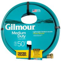 Gilmour 15 Reinforced Garden Hose With Full-Flo Brass Couplings