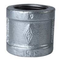 Worldwide Sourcing 21-1/2G Galvanized Pipe Malleable Coupling