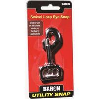 Baron C-017-1 Round Eye Swivel Bolt Snap with Strap Eye