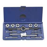 Hanson 24612 Fractional Tap and Hex Die Set