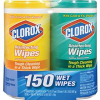 Clorox 01599 Twin Pack Wet Disinfecting Wipe Bleach-Free