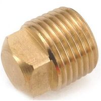 Anderson Metal 756109-02 Brass Pipe Plug Cored Square Head