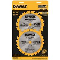Dewalt DW9158 Combination Circular Saw Blade Set