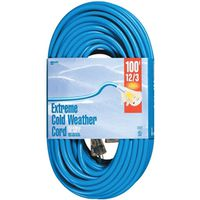 Woods Cold Flex SJTW Outdoor Extension Cord With Powerlite Lightened End