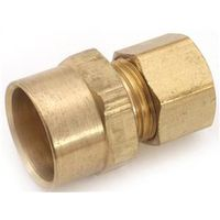 Anderson Metal 750086-0610 Brass Compression Adapter