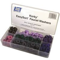 Korky Eassysort 000149 200-Pieces Bevel Faucet Washer Kit