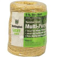 Wellington 43887 1-Ply Twisted Sisal Twine 400 ft L