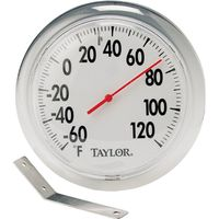 Taylor 5204 Weather Resistant Round Window Thermometer