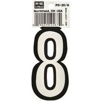 Hy-Ko PS Reflective Weather Resistant House Number
