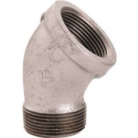 World Wide Sourcing PPG121-40 Galvanized 45 Deg St Elbow