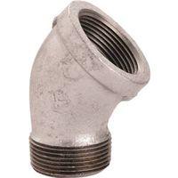 World Wide Sourcing PPG121-40 Galvanized 45 Deg St Elbow
