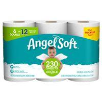 ANGEL SOFT BATH TISSUE 6DR