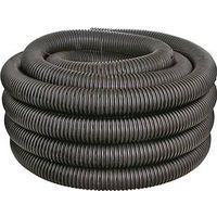 Hancor 04010100 Perforated Regular Single Wall DWV Pipe 100 ft