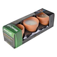 CANDLE TERRA COTTA 3PK 3.5IN