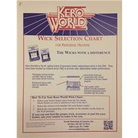 World Marketing WC-2 Kerosene Heater Wick Chart