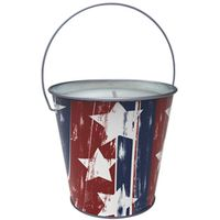 Worldwide Sourcing Y1997 Stars and Stripes Design Candle
