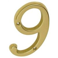 Schlage SC2-3096-605 #9 Classic Traditional House Number