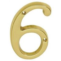 Schlage SC2-3066-605 #6 Classic Traditional House Number