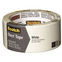 Scotch 1020-WHT-A Colored Duct Tape