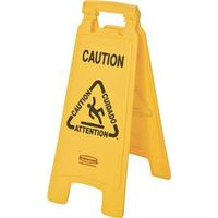 Rubbermaid 6112 00 YEL Floor Signs