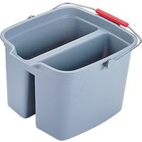 Rubbermaid 261700GRAY Rectangle Double Bucket With Wide Pour Spout