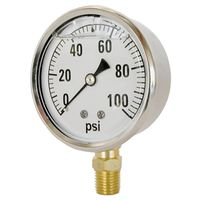 Valley CS-2141GXB100 Liquid Filled Pressure Gauge