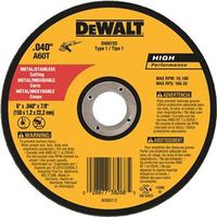 Dewalt DW8725 Type 1 Reinforced Small Diameter Cut-Off Wheel