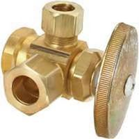 BrassCraft R3701RX RD Dual Outlet Multi-Turn Stop Valve