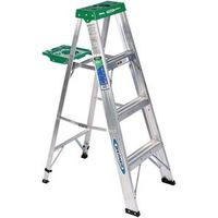 Werner 354 Single Sided Step Ladder With Pail Shelf
