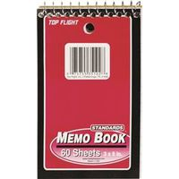 Top Flight 4610618 Ruled Top Wire Wirebound Memo Book