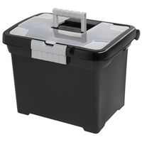 Sterilite ShowOffs See-Through Lid File Box