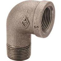 World Wide Sourcing 6-1-1/4B Black Pipe 90 Deg St Elbow