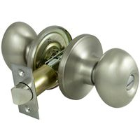 KNOB PRIVACY EGG SHAPE SATIN