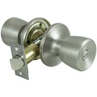 KNOB PRIVACY TS 6-WAY S/STEEL