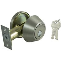 DEADBOLT SNGL CYL 6-WAY SATIN