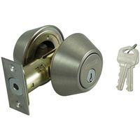 DEADBOLT DBL CYL 6-WAY SAT NIC