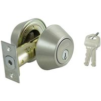 DEADBOLT SINGLE CYL 6-WAY S/S