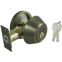 DEADBOLT SNGL CYL 6-WAY ANTBRS