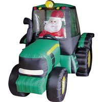 INFLATABLE 6FT TRACTOR SANTA
