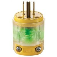 VINYL LIGHTED PLUG YELLOW