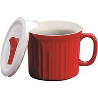 MUG W/COVER RED POP-INS 20OZ