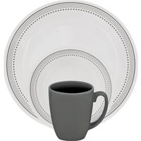 DINNERWARE 16PC MYSTIC GRAY