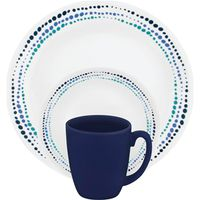 DINNERWARE 16PC OCEAN BLUE