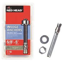 REDHEAD WEDGE ANCHOR 5/8X5 10P