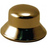 CAP FINIAL 1/8IN BRS 2/PK