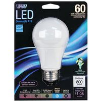 BULB LIGHT LED 60W A19 5000K